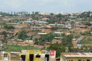 Mixed mid- and upscale houses in Kigali.