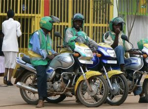 Motorcycle taxi drivers must wear a uniform and carry a
