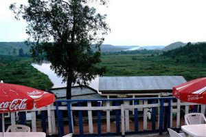 View of the Kagera River between Uganda and Tanzania (in