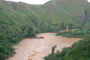 Kagera River between Uganda and Tanzania, also called Akagera River,