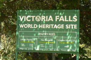 Sign - Victoria Falls World Heritage Site