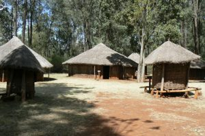 Tribal villages and huts at the