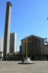Nairobi downtown - Catholic cathedral. Kenya is a very Christian