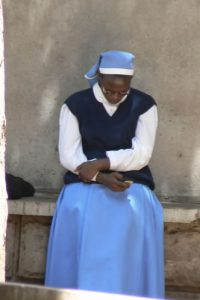 Nun dialing a number on her