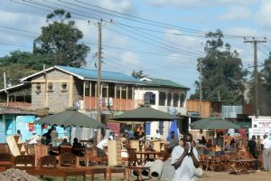 Furniture market in the suburbs of Nairobi