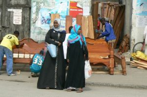 Muslim women at the old market.