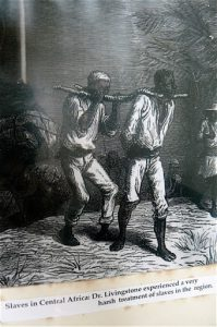 Engraving of slaves from the display in David Livingstone's house