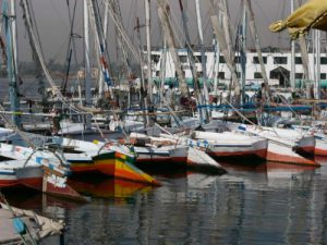 Luxor - harbor on the Nile.