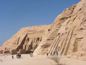 Abu Simbel is an archaeological site comprising two massive rock