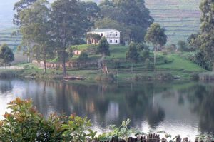 Lake Bunyonyi former home of the vice-chancellor of Makerere University
