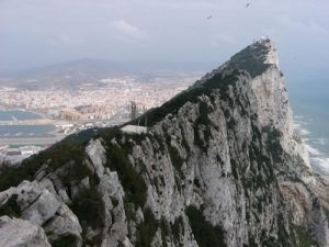 View from the top of Gibraltar. The