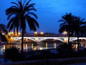 Seville in the evening