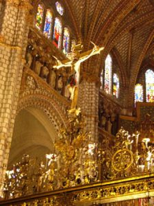 Toledo's magnificent cathedral stands high and