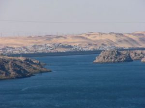 Lake Nasser formed by Aswan Dam.