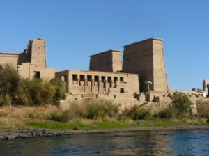 Philae is an island in the lake and the previous