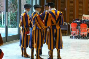 Papal audience - Swiss guards