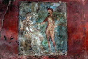 Italy - Pompeii ruins Wall fresco See report: http://www.archaeology.org/issues/124-1403/features/1813-pompeii-saving-the-villa-of-the-mysteries