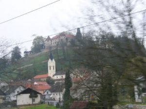 Train from Zagreb to Ljubljana The 3-hour ride between the Croatian