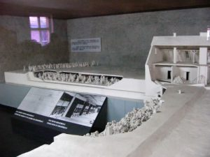 Scale model of the crematorium. In early