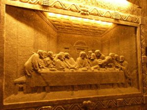 Last Supper' reproduction carving deep underground