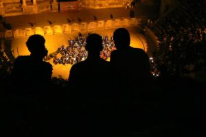 Amman - city scene: open air concert in Roman Amphitheatre