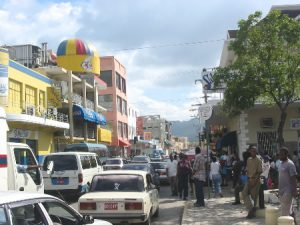 Main street in Montego Bay