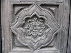 Morelia - carved door detail