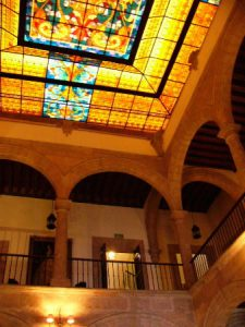 Morelia - beautiful university library ceiling This