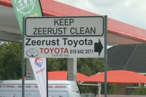 Zeerust in western RSA is a busy town with much