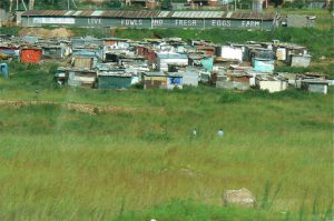 The poorest slums of Soweto.