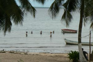 Local fisherwomen along the beach.