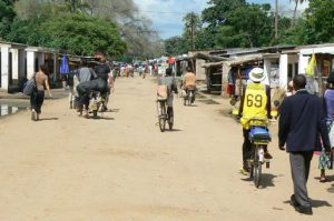 Number 69 is a bicycle taxi very common in Mangochi,