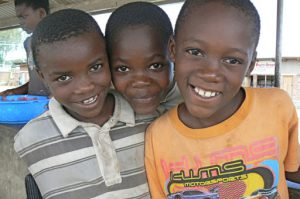 Cute little boys at a market in Mangochi, Malawi.