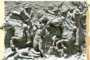 Maputo Fort relief depicting defeat of the natives by Portuguese
