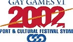 Logo of Gay Games VI in 2002 in Sydney.