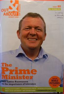 The Prime Minister Lars Rasmussen on the cover of the