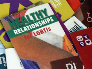 GALZ health, sex and relationship brochures are free and plentiful.