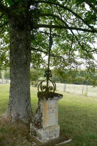 Old grave marker in the St George cemetery