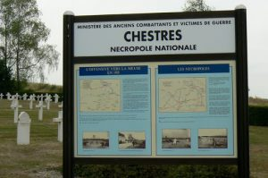 A mile outside Grandpre is the Chestres National cemetery