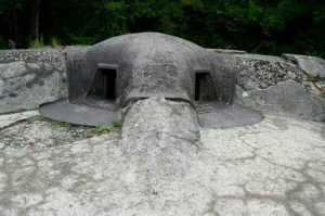 Scary close-up view of a Pamard casement in the memorial