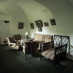 The stone vaulted room always remained warm and quiet-- a