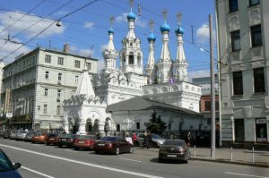 Ornate church in an otherwise banal neighbothood
