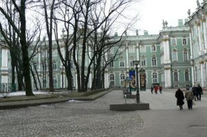 Entry to the Hermitage is through the central courtyard.