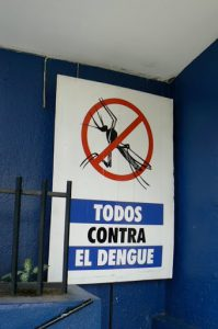 Precaution sign against dengue fever