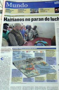During our visit to Panama on 12 January 2010: Headline: 'Haitians