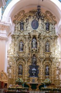 Baroque altar of gold and silver