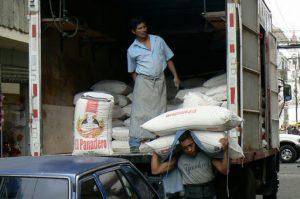 Morning delivery of flour