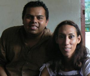Marvin posing with Athiany of the Nicaraguan Trans Association