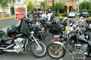 A Costa Rican bikers club passing through Managua