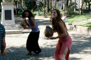 Entertainers in Parque Morazin
